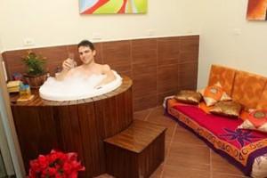 Noivo no banho de ofuro